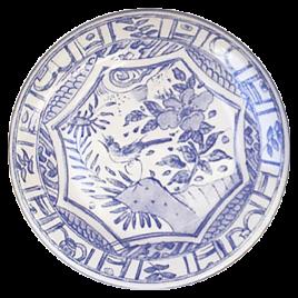 Gien – Oiseau Blue – ontbijtbord 22 cm.
