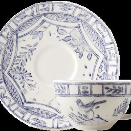Gien – Oiseau Blue – thee kop en schotel