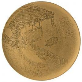 Rosenthal – TAC Gropius Palazzo RORO II – onderbord goud 33 cm.