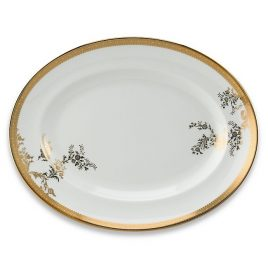 wedgwood-vera wang-lace-gold-ovale schaal