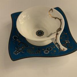 villeroy & Boch -wave-samarah-turquoise- thee kop & schotel