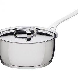 alessi- jasper Morrison-pots and pans – steelpan met deksel