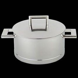 demeyere-john pawson-kookpan met deksel- 24 cm