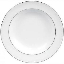 wedgwood-vera wang-blanc sur blanc-diep bord 23 cm