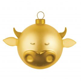 Alessi – kerstbal Bue – goud – Marcello Jori