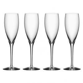 orrefors-more-champagne flute- 4 stuks
