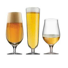 orrefors-beer collection – 3 tasting beer glasses