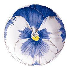 taitu- flora- dessertbord blauw