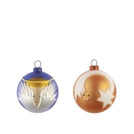 Alessi – kerstballen klein  – stella cometa- angioletto – kleur – Marcello Jori
