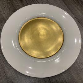wedgwood- – minton- pure gold –  presentatie bord- onderbord