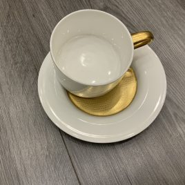 wedgwood- – minton- pure gold – tea cup & saucer