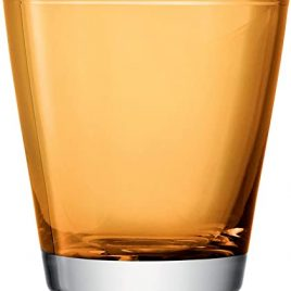 lsa international- asher- amber – water glasses