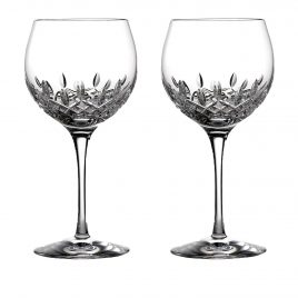 waterford- Lismore- essence – cut crystal- ballon – wine glass