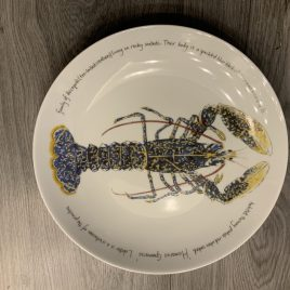 jersey pottery-richard bramble-fishplates-limoges-coupe plate -lobster