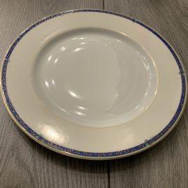 medard de noblat- tamaris blue- limoges- dessert bord