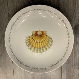 jersey pottery-richard bramble-fishplates-limoges-coupe plate -scallops