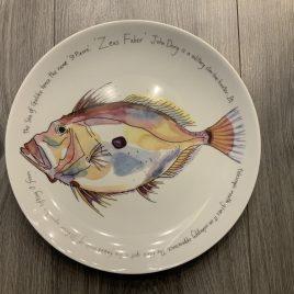 jersey pottery-richard bramble-fishplates-limoges-coupe plate -john dory