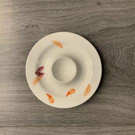 hutschenreuter-shalima- eierdop met schaaltje
