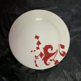 Gien- garance- rood -dessertbord