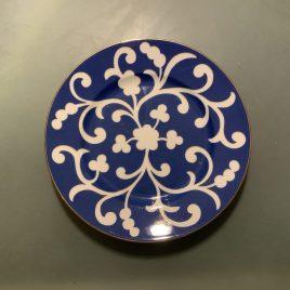richard Ginori – oscar de la rente – blauw servies- dessertbord