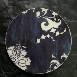 Gien- indigo – onderbord – blauw
