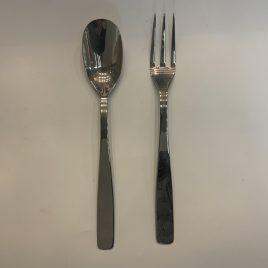 alessi- knife fork spoon – glanzend  dienvork- dienlepel