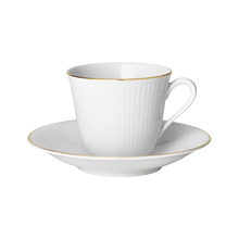 Bruidspaar- Maud van Leeuwen en Christiaan Henny- Rörstrand- Swedish Grace-Gala- Espresso kop & schotels