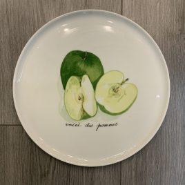 Porcelaine de Sologne- apple -taartbord -30 cm -limoges